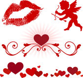 Valentine's Day elements Royalty Free Stock Photography