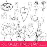 Valentine\\\'s day elements Royalty Free Stock Photo