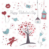 Valentine's Day Elements Royalty Free Stock Images