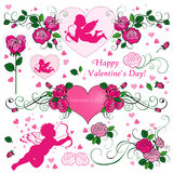 Valentine's day elements Royalty Free Stock Photos