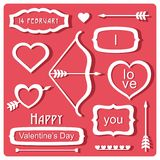 Valentine's Day elements Stock Photos