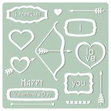 Valentine's Day elements. Vector Illustration Stock Images
