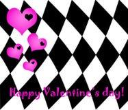 Valentine's day emo card. Valentine's day card in emo style Stock Photo