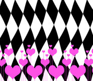 Valentine's day emo card. Valentine's day card in emo style Royalty Free Stock Images