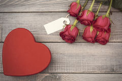 Valentine`s day. Empty ticket to write some text stock photography