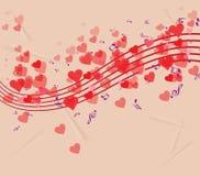 Valentine's day enjoying playing music background Stock Images