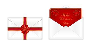 Valentine's day envelope royalty free illustration