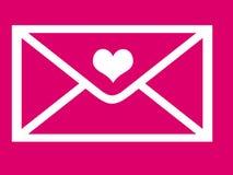 Valentine's day envelope Stock Photos