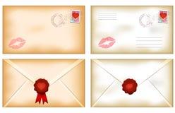 Valentine's day envelopes Stock Photos