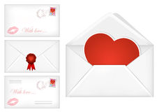 Valentine's day envelopes Royalty Free Stock Image