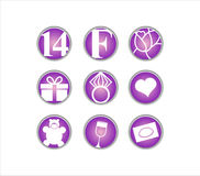 Valentines day, 14 February,  icon. Valentines day, icon set. 14 February Royalty Free Stock Image