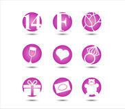 Valentines day, 14 February,  icon. Valentines day, icon set. 14 February Stock Images