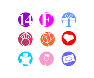 Valentines day, 14 February,  icon. Valentines day, icon set. 14 February Stock Photography