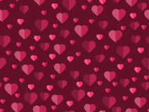 Valentine`s day. 14 February. Seamless pattern with hearts. Festive background for greeting card, banner and poster. Vector illustration Stock Photography