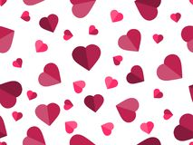 Valentine`s day. 14 February. Seamless pattern with hearts. Festive background for greeting card, banner and poster. Vector illustration Stock Images