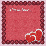 Valentine's day felt greeting card Royalty Free Stock Images