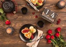 Valentine`s day flat lay royalty free stock photo