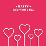 Valentine's Day flat style greeting card. Vector. Valentine's Day greeting card. Vector background in flat style with long shadow. Illustration for holiday 14 Stock Illustration