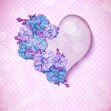 Valentine's day floral background with hearts Stock Photos