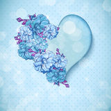 Valentine's day floral background with hearts Royalty Free Stock Images