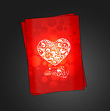 Valentine's day floral greeting card Royalty Free Stock Photo