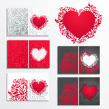 Valentine's day floral greeting cards Royalty Free Stock Image