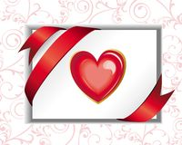 Valentine's Day floral heart Stock Images