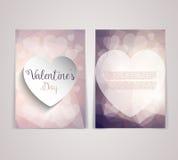 Valentine's Day flyer design Stock Photos