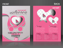 Valentine's Day Flyer Stock Images
