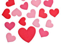 Valentine's Day Foam Hearts Stock Photography