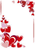 Valentine's day frame Royalty Free Stock Photography