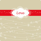 Valentine`s day frame Royalty Free Stock Photos