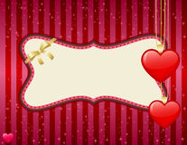 Valentine's day frame Royalty Free Stock Images