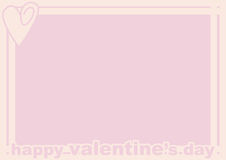 Valentine's Day Frame. A valentine's Day frame showing a pink heart Royalty Free Stock Photos