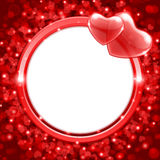 Valentine S Day Frame Background With Heart Royalty Free Stock Images