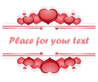 Valentine's day frame vector background with hear Royalty Free Stock Photo