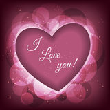 Valentine's day frame vector background with heart Royalty Free Stock Photos