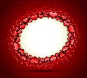 Valentine's day frame vector with heart Royalty Free Stock Images