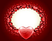 Valentine's day frame vector with heart Stock Images