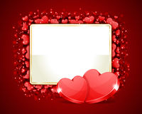 Valentine S Day Frame With Two H Royalty Free Stock Image