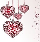 Valentine's Day garland from hearts Royalty Free Stock Photos