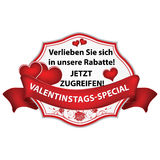 Valentine`s Day  German sticker / label Stock Photography