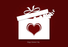 Valentine's day gift box with hearts Royalty Free Stock Photos