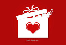Valentine's day gift box with hearts Royalty Free Stock Images