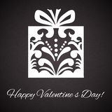 Valentine's Day.Gift box ornament on abstract vintage background Royalty Free Stock Photography