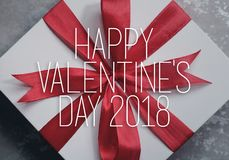 Valentine`s day gift box. Stock Photo