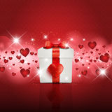 Valentine's Day gift boxbackground Stock Photos