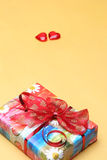 Valentine's day gift boxes. Heart shape and box for Valentines gifts Royalty Free Stock Images