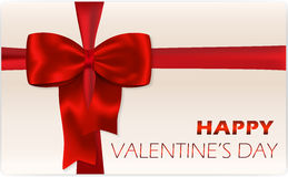 Valentine's day gift card Stock Image