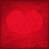 Valentine`s Day gift card. Valentine`s Day vintage gift card with heart and place for text. Romantic  illustration Royalty Free Stock Photos